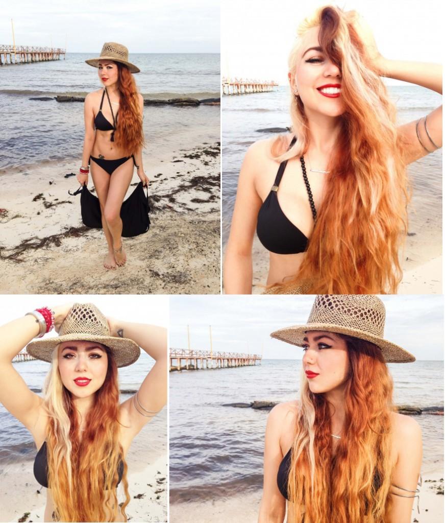 Anette Morgan Mexican Blogger Riviera Maya Beach