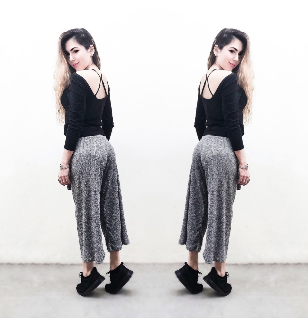 Anette Morgan Vegan Mexican Blogger OOTD Culottes Double Style