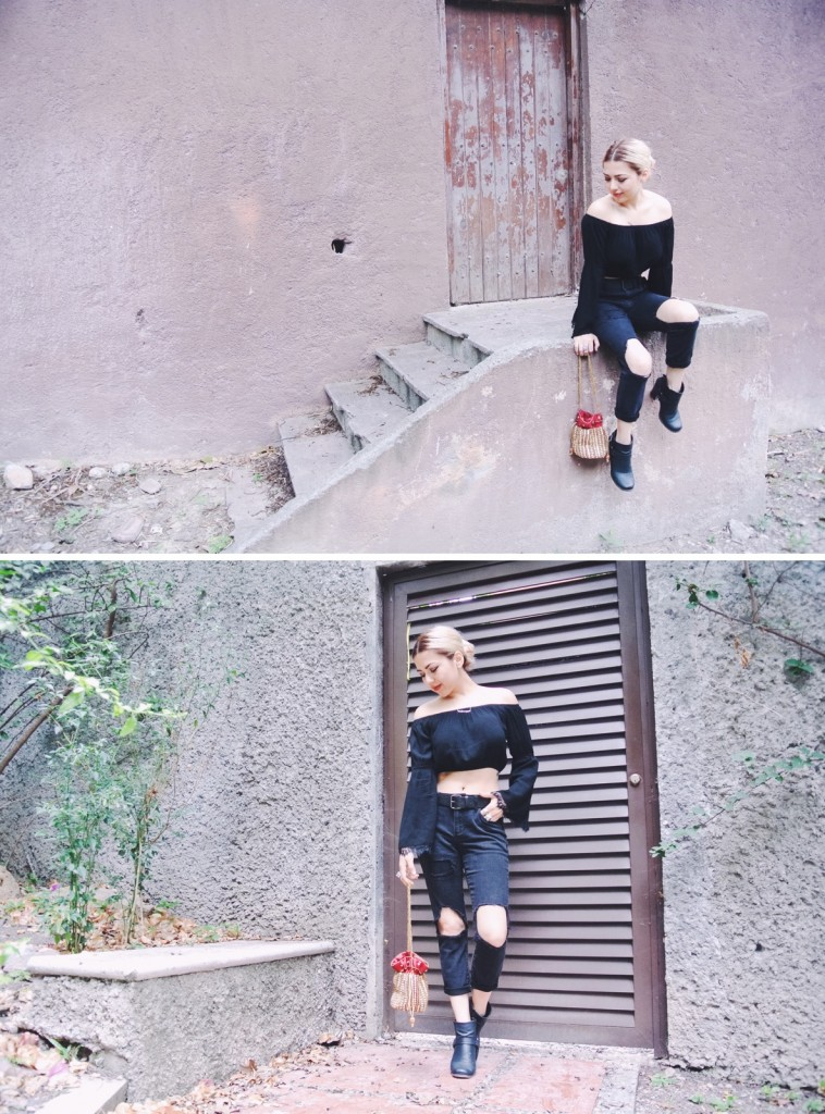 Anette Morgan Vegan Mexican Blogger wearing Tom Fella OOTD Pink 3