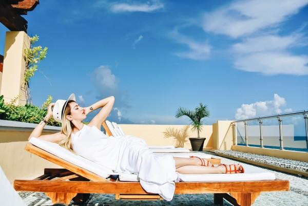Anette Morgan Vegan Mexican Blogger OOTD Hacienda Tres Rios Stradivarius Riviera Maya