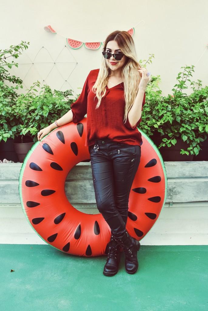 Anette Morgan Vegan Mexican Blogger Watermelon Party Monterrey