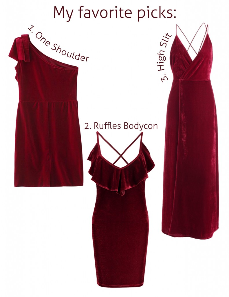 Anette Morgan Vegan Mexican Blogger Zaful Red Velvet Dress Picks