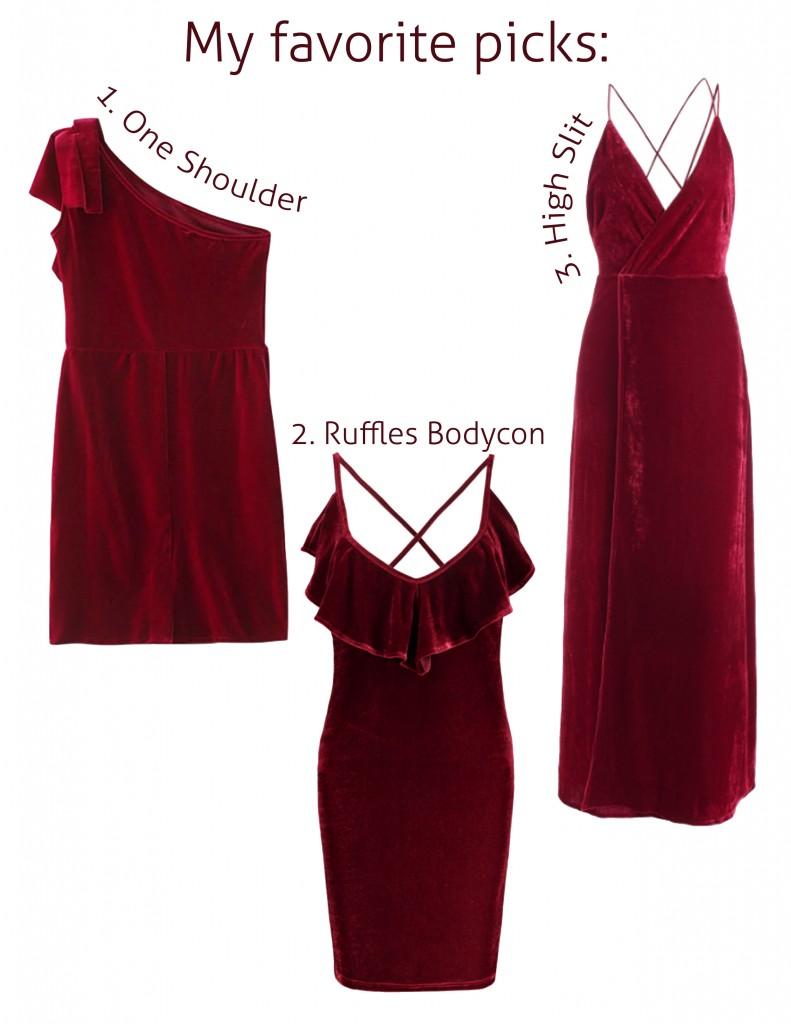 Anette Morgan Vegan Mexican Blogger Zaful Red Velvet Dress Picks