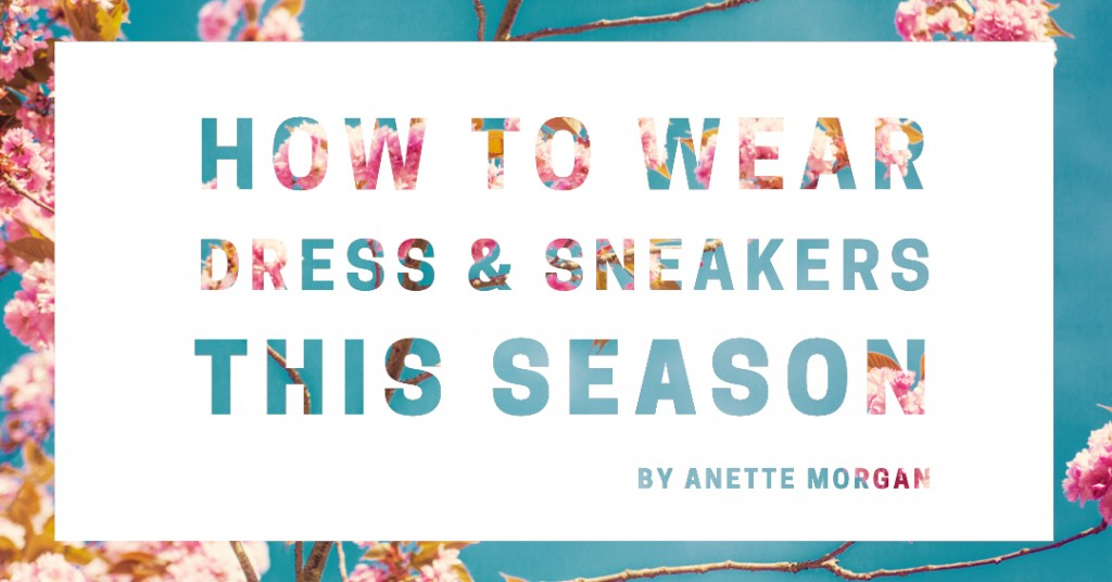 ANETTE MORGAN WELLNESS LIFESTYLE BLOG DRESS & SNEAKERS OOTD 1