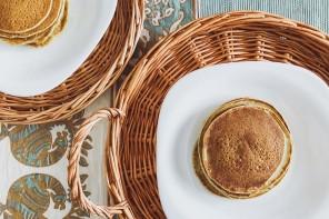 Matcha Protein Hotcakes
