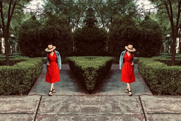 ANETTE MORGAN OOTD SPRING RED DRESS STYLE